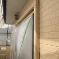 小美玉市K様邸にて外壁下塗り、中塗りです。