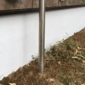 行方市N様邸、基礎部塗装