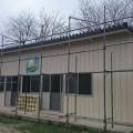 つくば市K保育園外壁塗装の中塗り・上塗りです。