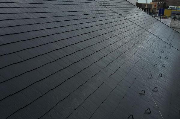 屋根 中塗り 施工後