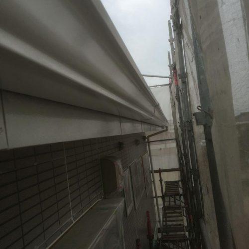 雨どい 1回目塗装 施工後