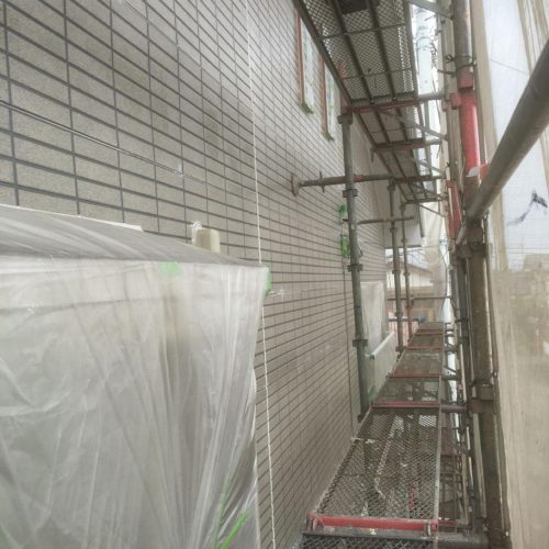 外壁 下塗り 施工後