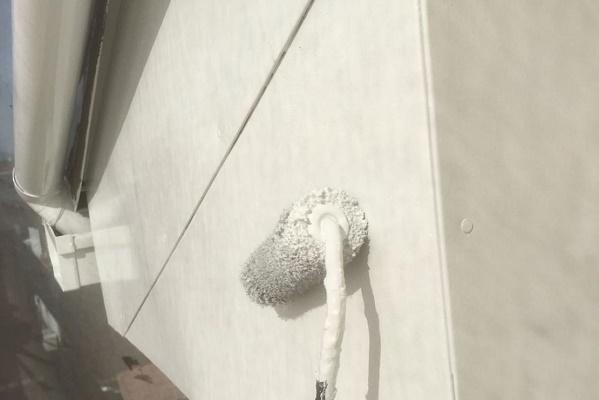 破風 2回目塗装 施工中