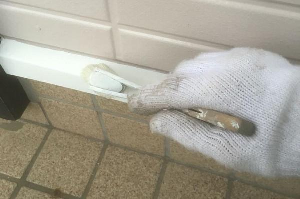 水切り塗装 施工中