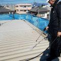 土浦市W様邸、高圧洗浄と軒天の塗装