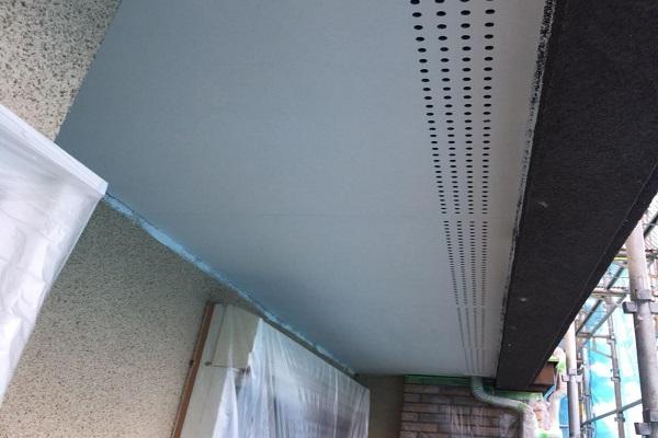 軒天 2回目塗装 施工後