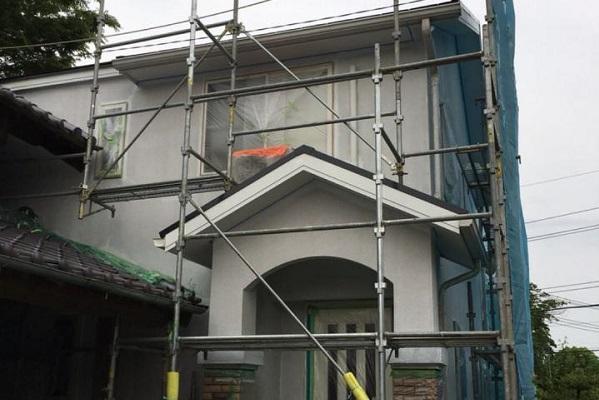 外壁 上塗り 施工後